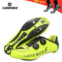 Sidebike Cycling Shoes Carbon Ultralight Self Lock Racing Athletic off Road Bike Bicycle Riding Shoes zapatillas hombre ciclismo