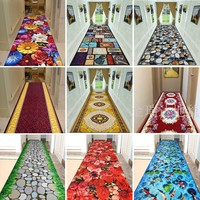 Customize High Quality 3D Effect Hallway Carpet Pastoral Rugs Corridor Floor Mat Soft Aisle Stairs Anti slip Suction Blanket