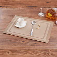 4pcs Heat-Resistant Placemats Anti-Skid Washable Table Cloth Pad Washable PVC Table Mat Non-slip PVC Pad home kitchen device