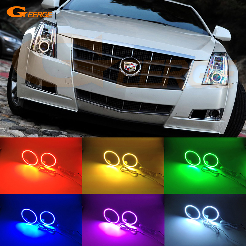 2010 Cadillac Cts For Sale: For CADILLAC CTS 2008 2009 2010 2011 2013 Xenon Headlight Excellent Angel Eyes Multi Color Ultra