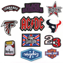 New embroidered personality cloth stickers punk rock English letter patch clothing accessories badge