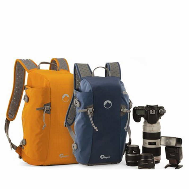 Wholesale Lowepro Genuine Blue Flipside Sport 15L AW DSLR Photo Camera Bag Daypack Backpack With All Weather Cover in Camera Video Bags from Consumer Electronics