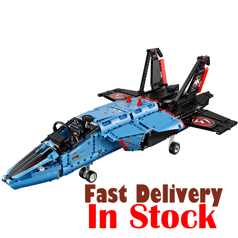 LEPIN 20031 1151pcs Technic Series The jet racing aircraft Model Building Blocks Kits Brick Toy Compatible 42066 lepin legoing 42066 1151pcs technic series the air race jet model building blocks bricks gifts toys compatible 20031