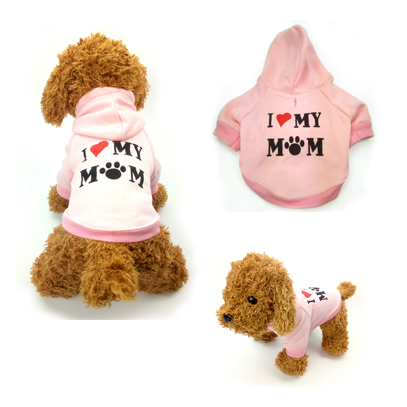 Fashion Love Mommy XS Dog Clothes Hoodies Jacket Track ...