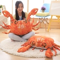 Creative simulation Seafood Crab Plush Doll Ornament High quality and low price Hotel decoration 60cm