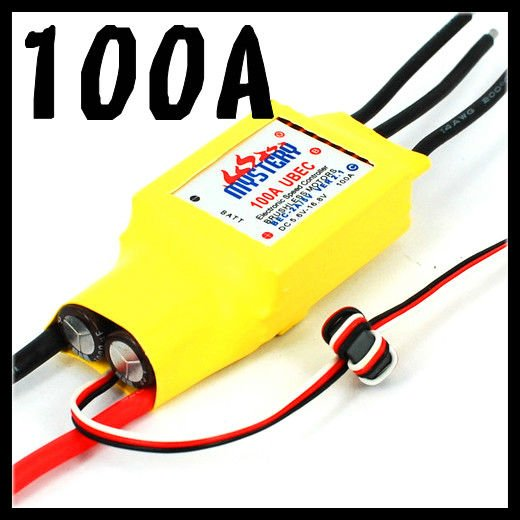 Mystery Cloud 100A ESC with 5A UBEC brushless ESC RC Speed Controller RC Helicopter RC Airplane mr rc 40a brushless esc speed controller for rc f450 f550 multirotor aircraft remote helicopter radio controlled a676
