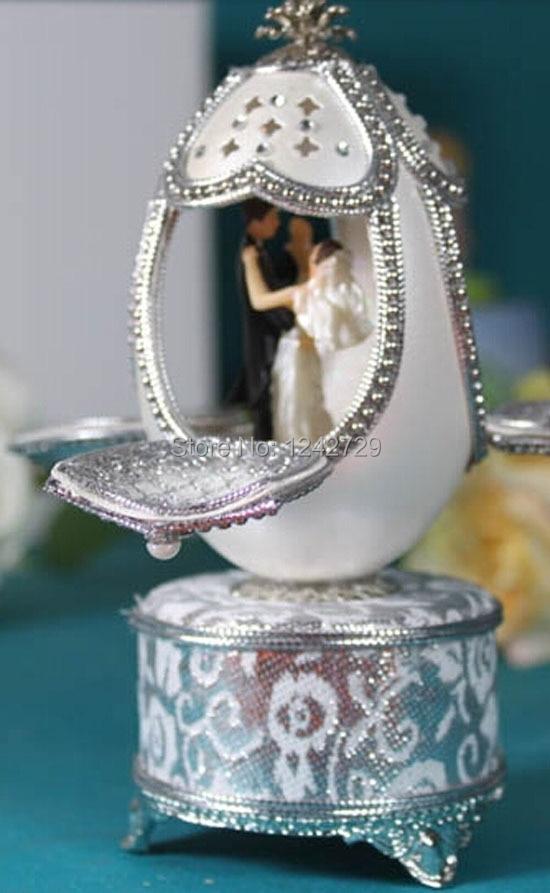 Boîte à musique coquille d'oeuf cadeau mariage/anniversaire papillon libellule boîte à bijoux musicale décoration de mariage