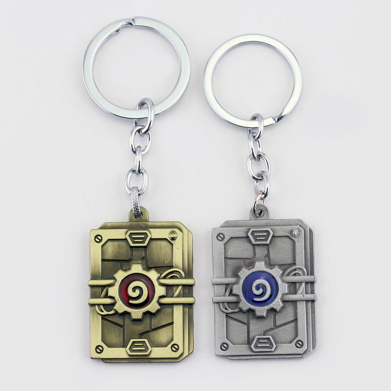2 Colors High Quality Alloy Game Hearthstone Keyring Fashion Series Heroes of Warcraft Keychain Pendant Gifts For Fans Car Key ...