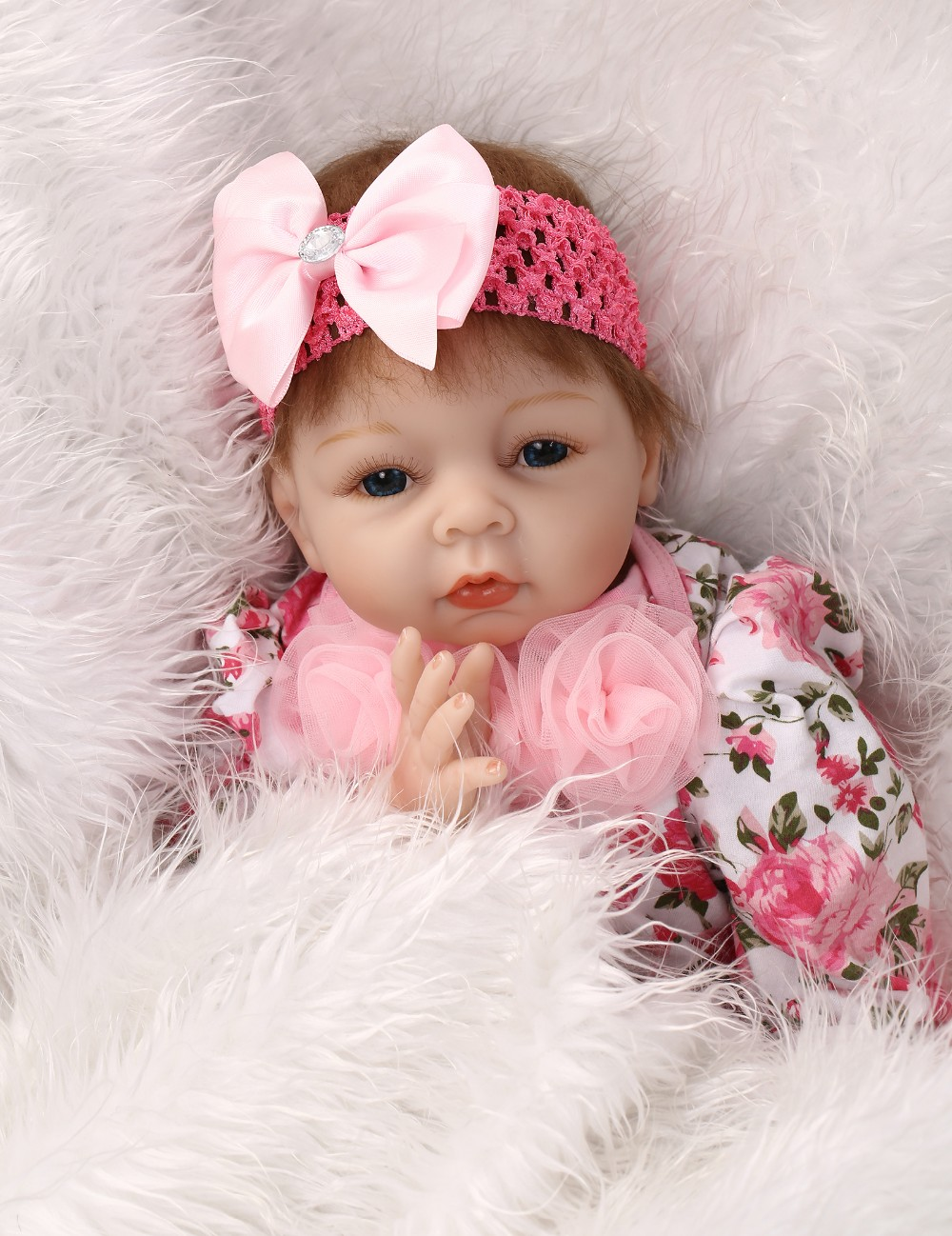 55cm Silicone reborn baby dolls toys for girl simulation soft newborn baby doll child  present gifts early education bedtime toy newborn silicone reborn dolls baby doll toy girls birthday gift present for child early education bedtime poupon reborn