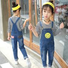 41a251e83388 Girl jumpsuit 2018 autumn kids overalls jeans children overalls kids baby  girl boys denim overall 5 12 16years children clothing