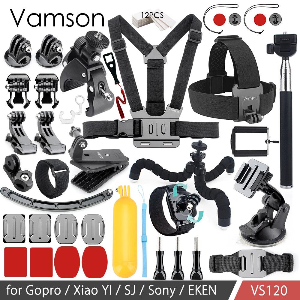 Vamson for GoPro Hero 6 5 4 3 Accessories Set Floating Bobber Adapter Chest Strap Tripod for SJ4000 for Xiaomi for Yi VS120