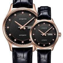 Clásico Reloj de Los Hombres Militar mecánico de Cuero Genuino diamante Relojes de Marca de Lujo Vestido de Relojes de Pulsera Mujer Reloj Hombre