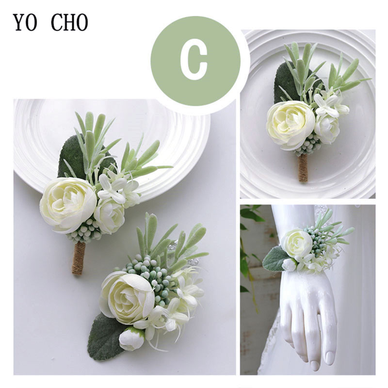 wedding accessories wrist corsage bracelet  boutonniere  (5)