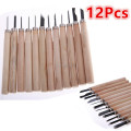 Brand NEW 12Pcs 13cm Wood Carving Chisels Knife Woodcut DIY Tools Woodcarving Gouges Tool For Carpenters
