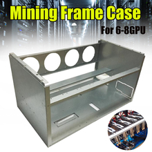 New DIY 63cm*36cm*33cm For 4 Fans 6-8 GPU Crypto-currency Stackable Open Air Mining Rig Frame Miner Case ETC BTH Steel