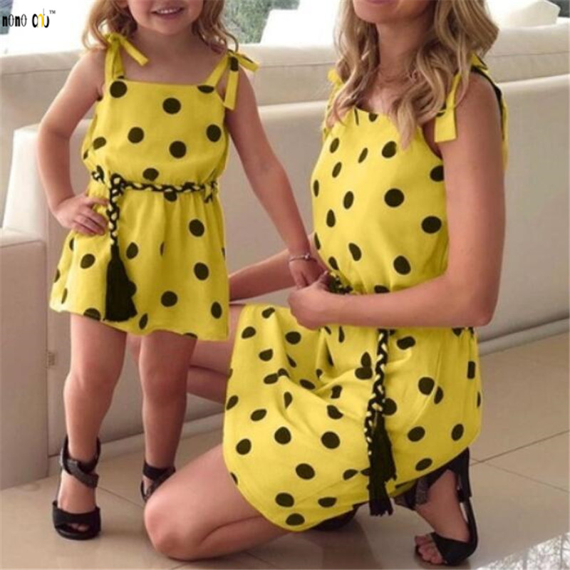adsfay.com Family-Match-Outfits-Summer-Dress-Sling-Polka-Dot-Mother-Daughter-Dresses-Mom-and-Girls-Clothes-1.jpg