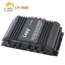 Lepy LP 168S ミニハイファイ 12 ボルト 40 ワット x2 + 68 ワット rms 出力パワーアンプ 2.1CH 車の自動車ホームオーディオステレオ低音スピーカー + 電源アダプタ