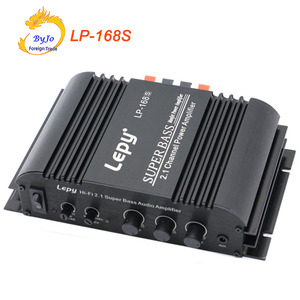 Image 1 - lepy LP 168S Mini HiFi 12V 40W x2+ 68W RMS output power amplifier 2.1CH Car Auto Home Audio Stereo Bass Speaker + Power Adapter