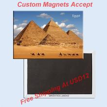 Assort Collections Free Shipping Over $12, The Pyramid of Egypt Tourist Metal Fridge Magnet 5370