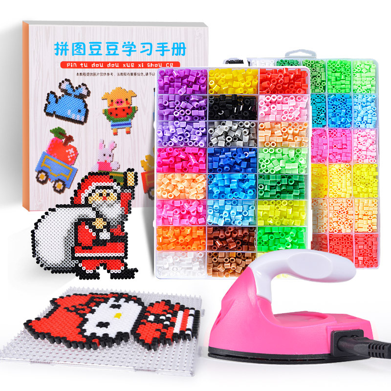 Perler Beads Kit 5mm/2.6mm Hama beads Whole Set with Pegboard and Iron 3D Puzzle DIY Toy Kids Creative Handmade Craft Toy Gift(China)