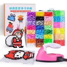 Perler Beads Kit cuentas Hama de 5mm/2,6mm, juego completo con Pegboard y rompecabezas de hierro 3D, juguete artesanal creativo hecho a mano para niños, juguete para regalo