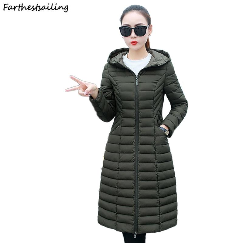 Women's Jacket 2018 New Autumn Winter Fashion Casual Female High-quality Thin Down Cotton Coats Padded Jacket Women's Warm   Parka