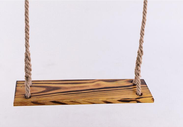 Chargement 150 kg 2.5 m longueur corde en bois Massif en plein air intérieur enfants adulte dortoir cour anti corrosion journaux suspendus swing dans Chaises de plage de Meubles