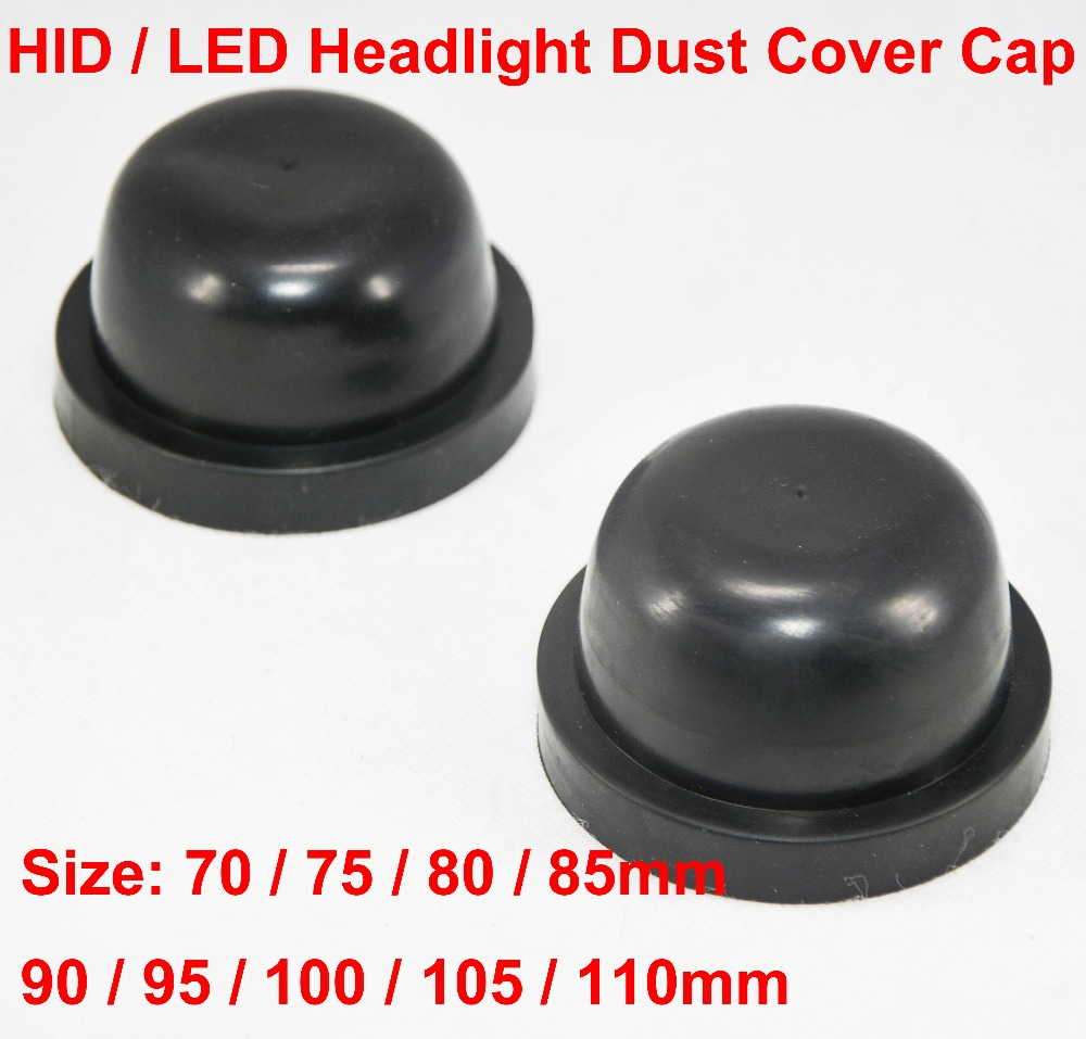 2PCS Car Headlight Rubber Cover Cap Waterproof Dustproof Case Shell For Auto Headlamps Bulbs Seal Soft Housing Retrofit Styling