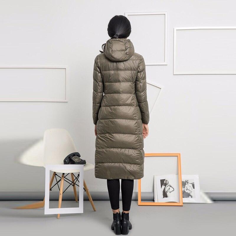 Canard Femmes Haute Black gray Vestes red Blanc Capuchon Down army D'hiver À Long Ultra Outwears Qualité 2018 Duvet Parka Green Manteaux Chaud Lumière Llyge De 415q6a