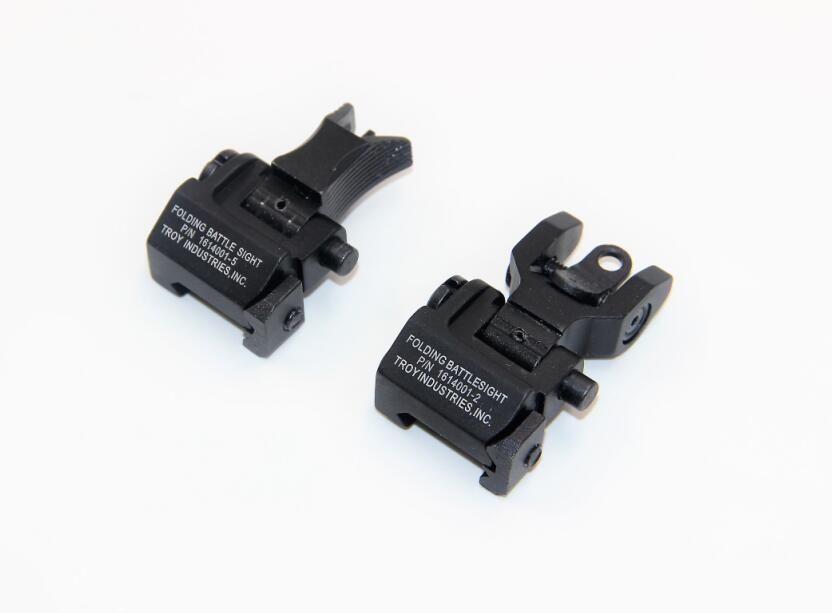 Whosale Metal Iron Y Rapid Transition Rear & Front Sight Tactical Military Rifle Airsoft Front And Rear Flip-up Down Iron Sight