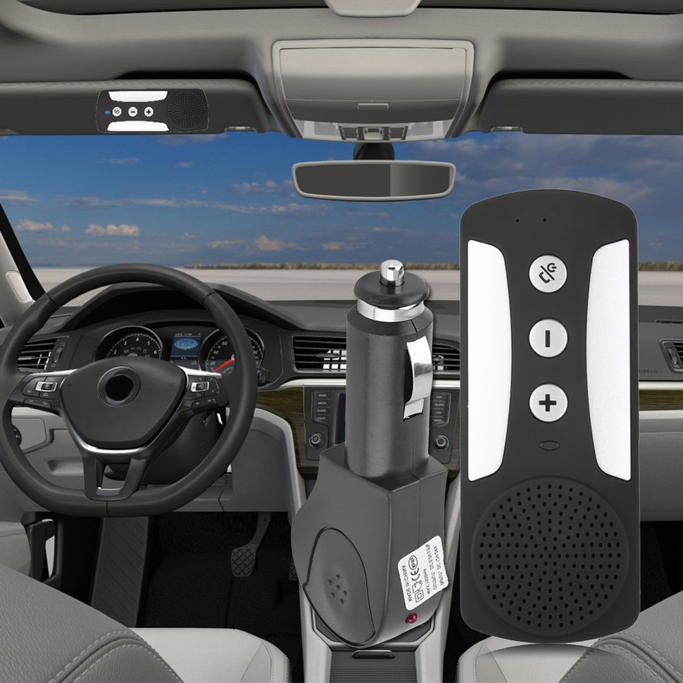 10pcs Bluetooth Car Auto Sunvisor Handsfree Kit Wireless Multipoint Speaker Phone hk009 wireless bluetooth 4 0 handsfree car speaker black