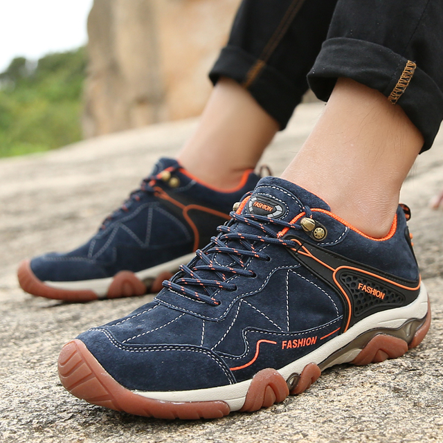 bce462ba09db High Quality Brand Men Sneakers Outdoor sport shoes men Hiking Sneakers  Summer Footwear Mens Hiking Shoes for man shoes