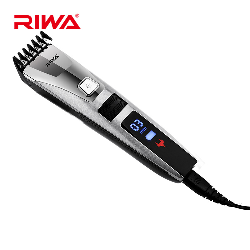 RIWA K3 100 240V Waterproof Rechargeable Hair Clipper Trimmer LCD Display Alloy Blade Razor Men Trimmer