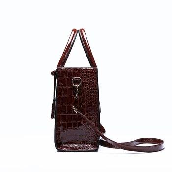 66ae8ae27 ... Saco das Mulheres Marca de Designer Bolsas de Couro de Crocodilo Da. Bolsas  de mão de ótima qualidade
