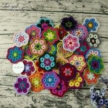 Декоративные салфетки для вязания крючком ручной работы, разноцветные подставки для цветов, круглые коврики для стола 8 см, шерстяные накладки для одежды 30 шт./