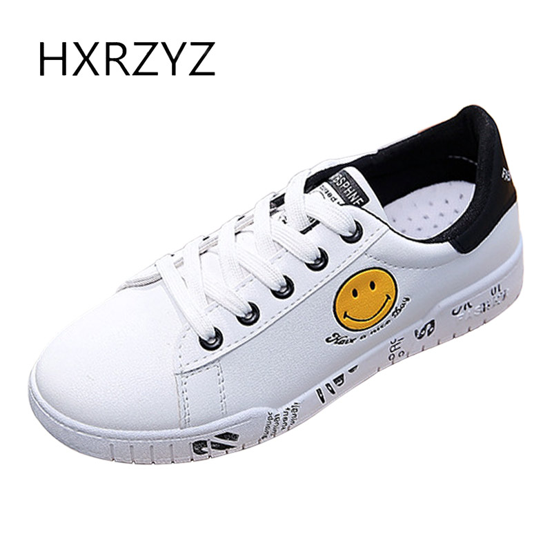 HXRZYZ women leather small white shoes cute canvas flat sneakers spring/autumn new fashion girl lace-up espadrilles casual shoes new women canvas shoes casual lace up cute spring candy colors ladies flats white shoes woman free shipping