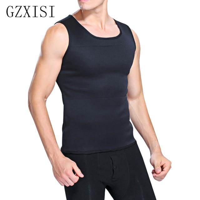 8a19eb61d8 Slimming Male Vest Body Shaper Men T shirt Sweat Suits Waist Belt Waist  Trainer Hot Shapers Waist Trainer Corset Sauna Corset