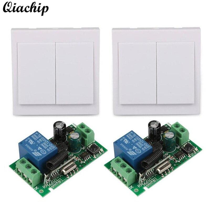 QIACHIP 433 Mhz Wireless AC 110V 220V 1CH Remote Control Switch RF Relay Receiver 433Mhz 86 Wall Panel RF Z40 smart home 433mhz 1 channel wireless remote control switch relay receiver 433 mhz rf 3ch 86 wall panel remote transmitter