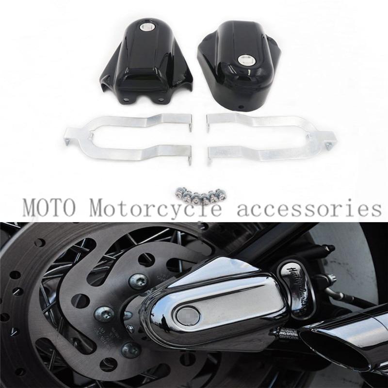 1 paire de couvre-essieu arrière de protection de moto pour Softail Deluxe FLSTN 2008 2009 2010 2011 2012 13 14 2015 2016 Kit de couvre-essieu arrière