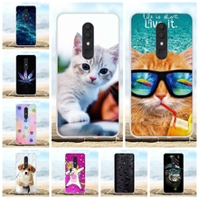 For Alcatel 3 3L 2019 Cover Ultra-thin Soft Silicone Case Cute Cat Patterned Coque Bag