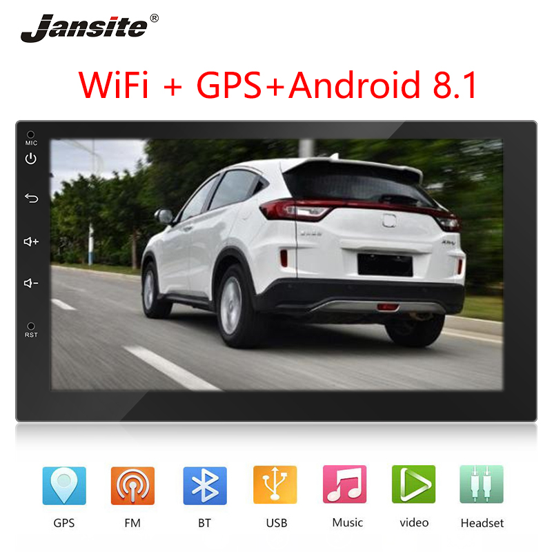 Jansite 7 Car Radio Android player Touch screen navigation FM Backup Camera  memory playback TF Card playback Universal SizeJansite 7 Car Radio Android player Touch screen navigation FM Backup Camera  memory playback TF Card playback Universal Size