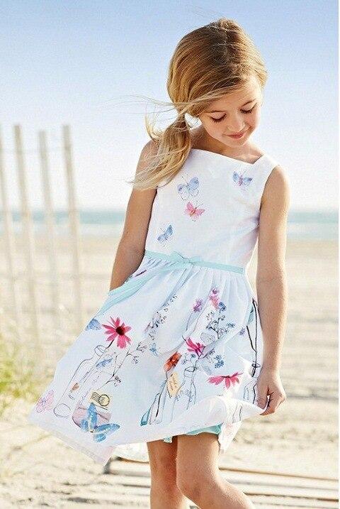 2015 ультрамодные платья для девочек детская одежда белое платье на бретелях модная одежда для студентов шелковое плиссированное платье дом...