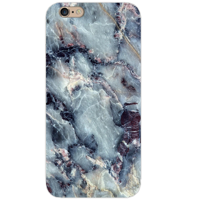 Marble Stone Design Silicone Phone Cases for All iPhone Mobiles