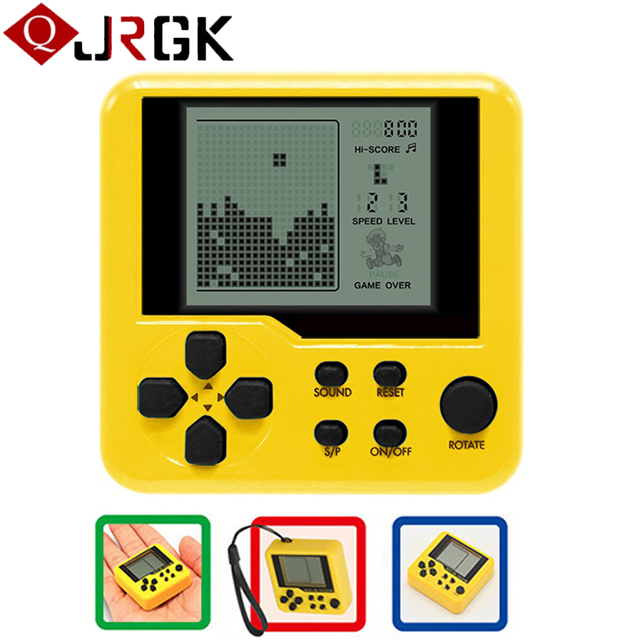 JRGK Retro Classic Tetris Handheld Game Player Portable Mini Electronic Toy For Kids Childhood Games Console Puzzle Educational