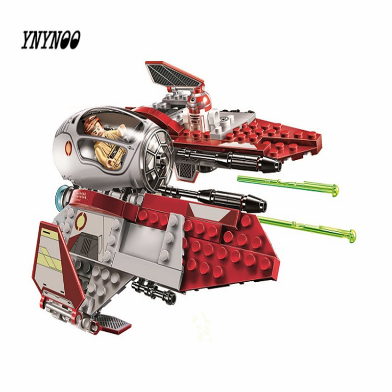 YNYNOO LEPIN 05020 Star Wars Obiwan's Jedi interceptor Micro Building Bicks Blocks Baby Toys 10575 dark journey star wars the new jedi order
