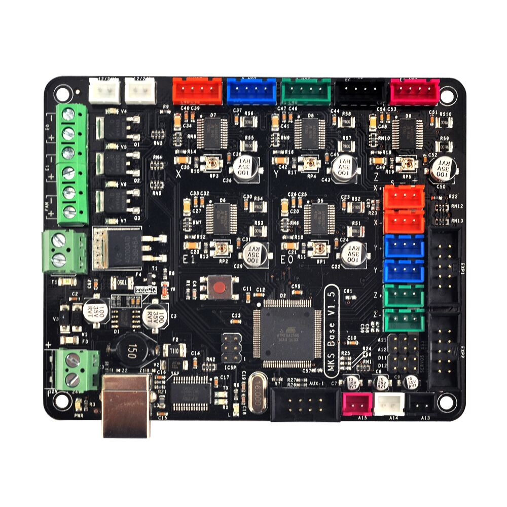 MKS Base V1.5 3D Printer Control Board With USB Mega 2560 R3 Motherboard RepRap Ramps1.4 Compatible Free Shipping