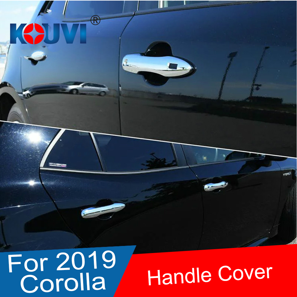 ABS Chrome Door Handle Cover Trim Strip Accessories For Toyota Corolla Sport Hatchback Auris 2019 in Chromium Styling from Automobiles Motorcycles