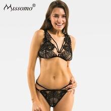 1db4710d495cb Missomo 2018 Women Sexy Bra Underwear Soft Black Sexy Lace Trim Mesh  Bralette Female Underwears
