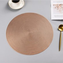 38CM Round PVC Placemat Kitchen Dining Table Mats Steak Pad Anti-scalding Insulation Pads