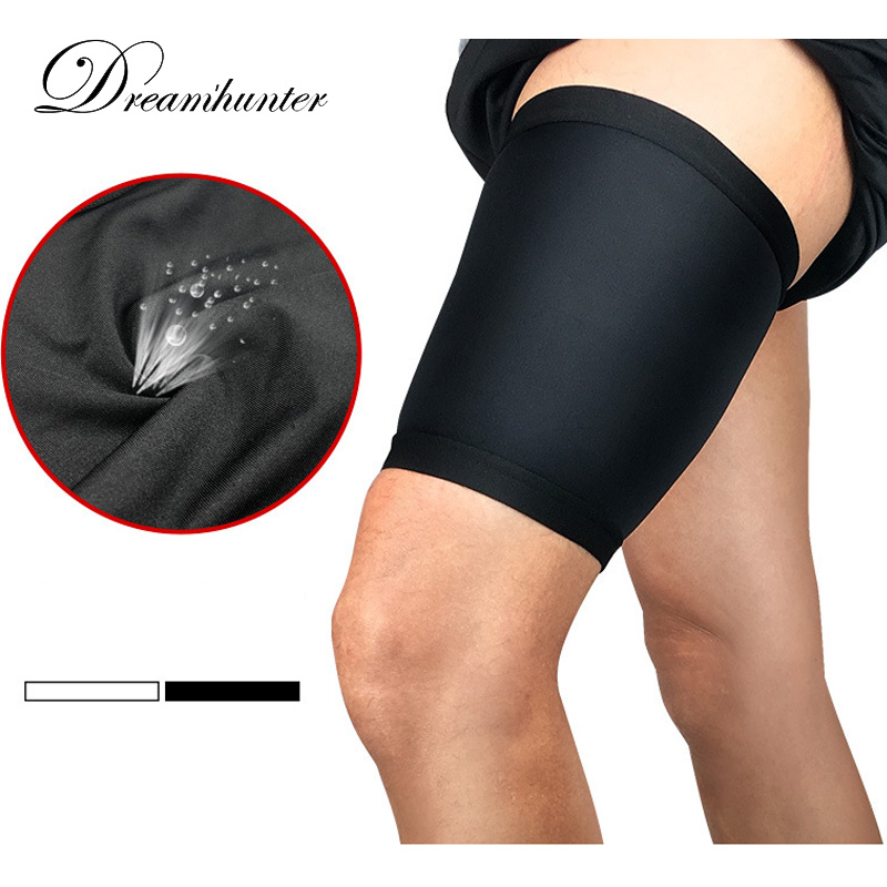 1 pair Thigh Guard Protector Pads Leg Support Compression Bandage Adjustable Sleeve Muscle Strain Pain Relief Sport Legwarmers